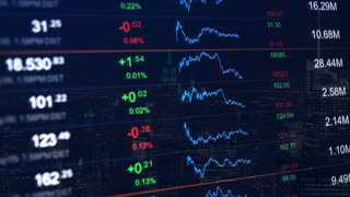 Stock market video background