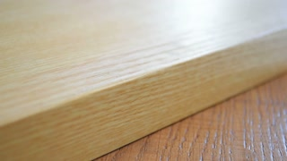 Wood texture. White wood board