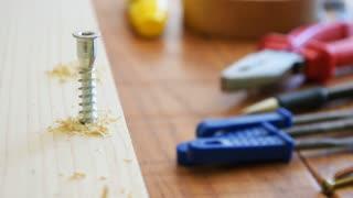 Wood work, wood screw