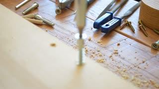 Wood working, wood screw