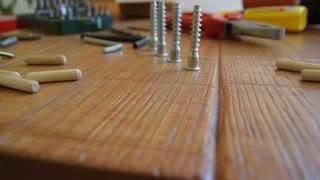 Workshop, carpentry table