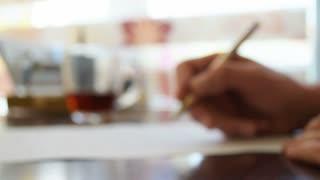 Writing man, write pen