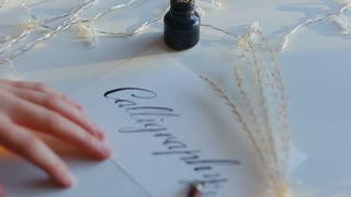 Calligraphy with nib pen and ink