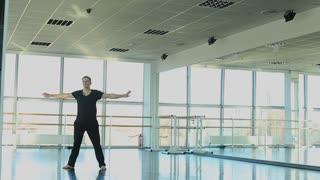 Hip hop dancer making different movements