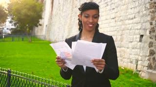 International student reading exam results