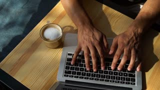 man leads correspondence on the Internet
