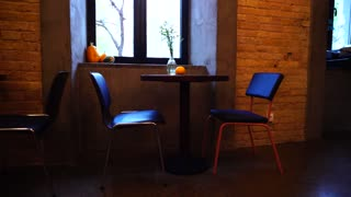UKRAINE, KIEV - FEBRUARY 10, 2017: cozy Interior luxurious chairs cafe design