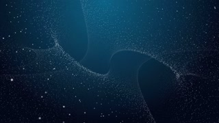 3d Abstract Background With Galaxy Dots Loopable