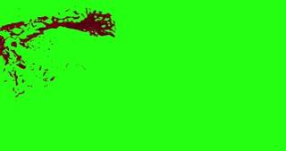 4k Blood Burst Motion Blur (Green Screen) 2