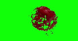4k Blood Burst Slow Motion (Green Screen) 188