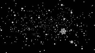 Beautiful Snowflakes Fall Deep Down