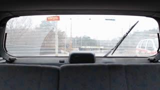 Car Rear Window View