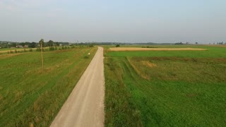 Flight Beyond Gravel Road In Countryside 3