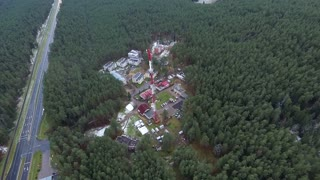 Flight Over The Highway, Tv Tower And Forest 4