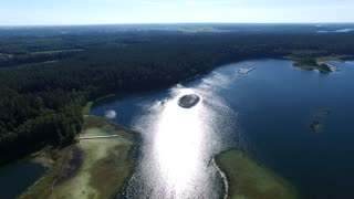 Flight Over The Lake Near Forest 18