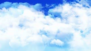 Flight Puffy Clouds