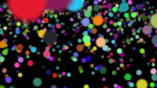 Flying Colored Bubbles Background