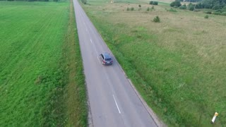Flying Over Country Road 1