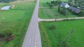 Flying Over Country Road, Car Passing By 4