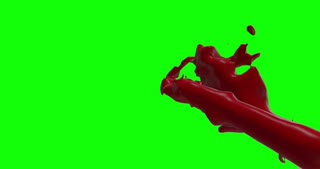 Hd Blood Burst Slow Motion (Green Screen) 166