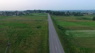 Panorama Over Country Road