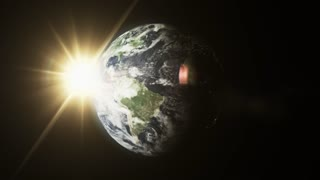 Rotating Planet Earth With Atmosphere 02