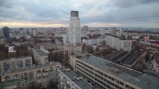 City Scape Buildings Urban Scene Concept. Copy space text
