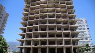 Dormitory building under construction