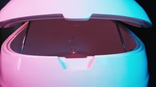 Floating Spa tank bath. Sensory deprivation capsule. Health and welness concept.