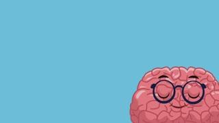 Cute brain mental health cartoon High Definition animation colorful scene