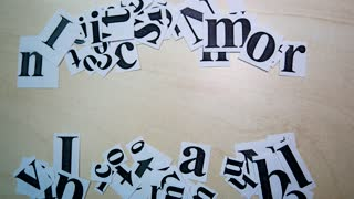 Printed On Paper Letters Make up the Word I Can On Table. Paper Scraps Word I Can. Motivation Concept For Business, For Self Belief, Positive Attitude, Motivation