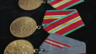 A close-up of the medal for the Great Patriotic War with Fascist Germany.