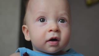 charming baby close-up