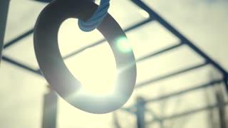 children playground gymnastic rings swing