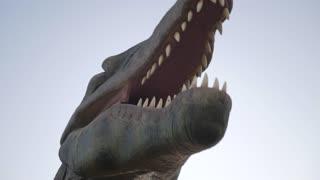 close up head of Tyrannosaurus