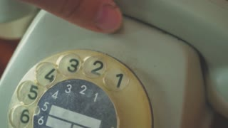Close up of old telephone dial