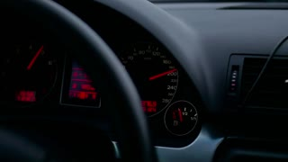 Dashboard in the car, speedometer fast car automobile speed dashboard accelerate.
