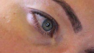 eye closeup female beautiful woman beauty makeup blue iris look