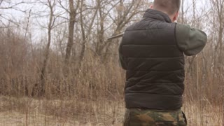 Hunter Stalking and Aims Stock Video Footage - Storyblocks