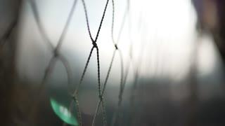 Сlose-up rope net.