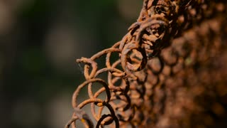 rusty scrap metal old spring close-up