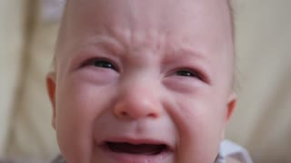 Small child boy crying. Close-up.