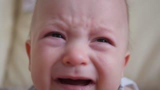 Small child boy crying. Close-up.