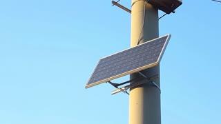 Solar energy. Solar battery.