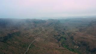 Beautiful hilly terrain of Gran Canaria. Aerial view.