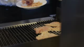 Grilled Chicken Breast On Grill