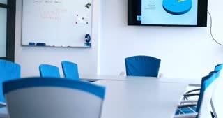 Interior View Of Empty Meeting Room