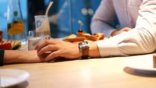 Loving Couple Eating Romantic Dinner