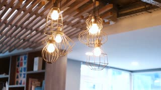 Many Retro Lamp Hang On Wires