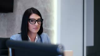 Portrait of Corporate Professional Woman In Office Conference Room